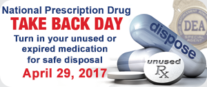 Drug Takeback Day April 29 2017