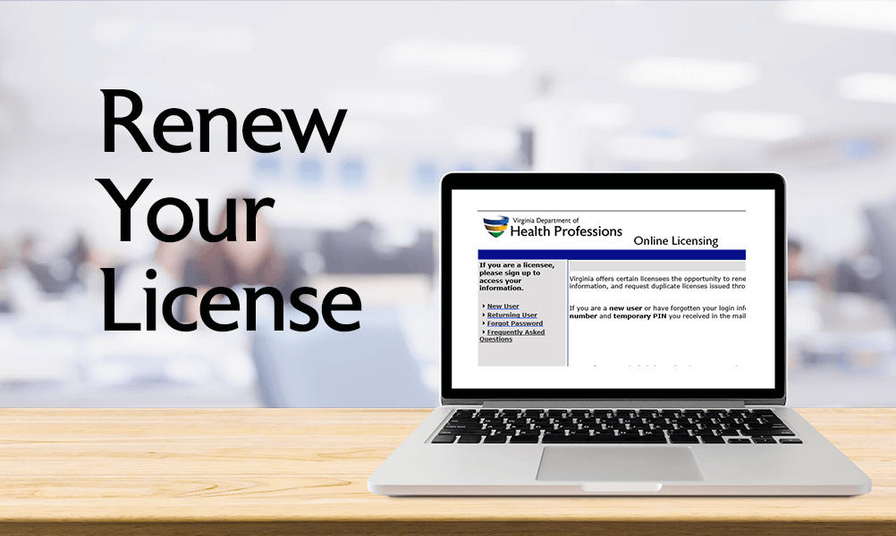 Renew your License
